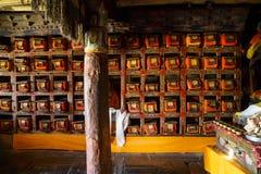 Antyczna Tybetańska buddyjska biblioteka Obraz Royalty Free