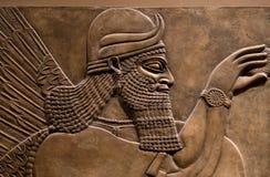 Antyczna ulga assyrian bóg obraz royalty free