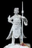 Antyczna władyki kamienia statua, isolate styl Zdjęcia Royalty Free