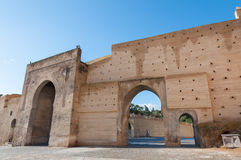 Antyczna warowna ściana w fezie Fotografia Royalty Free