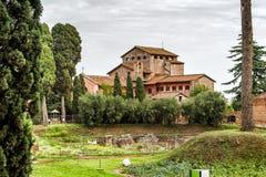 Antyczna willa na palatynu wzgórzu w Rzym zdjęcia royalty free