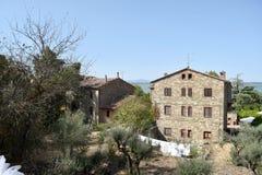 Antyczna wioska Isola Maggire Jeziorny Trasimeno w Umbria Zdjęcia Royalty Free