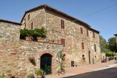 Antyczna wioska Isola Maggire Jeziorny Trasimeno w Umbria Obrazy Royalty Free