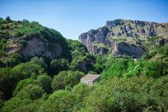 Antyczna wioska między górami w Armenia Fotografia Stock