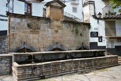 Antyczna wodna fontanna w Cazorla obrazy royalty free