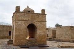 Antyczna Zoroastrian świątynia w Suraxani, blisko Baku zdjęcia royalty free