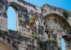 Antyczne ściany Diocletian pałac, Chorwacja Fotografia Stock