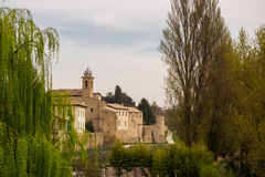 Antyczne ściany miasteczko Bevagna Włochy Obraz Royalty Free