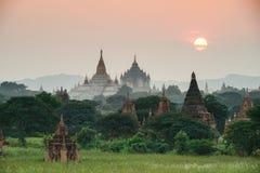 Antyczne świątynie w Bagan, Myanmar Fotografia Royalty Free