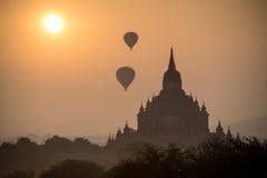 Antyczne świątynie w Bagan, Myanmar Zdjęcie Royalty Free