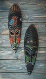 Antyczne Afrykańskie rytuał maski Obraz Royalty Free