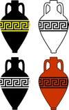 antyczne amphorae sylwetki Zdjęcia Royalty Free