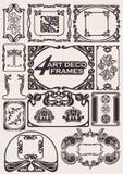 antyczne artdeco ramy ustawiający styl Obrazy Royalty Free