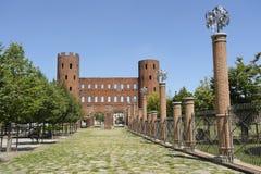antyczne bramy rzymski Turin Fotografia Stock