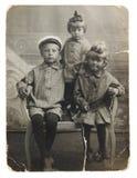 antyczne brata fotografii siostry Fotografia Stock