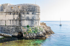 Antyczne ściany Dubrovnik, Chorwacja Obrazy Royalty Free