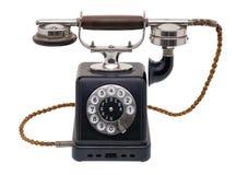 antyczne czarny telefon Obraz Royalty Free