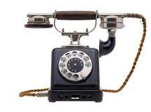 antyczne czarny telefon Zdjęcia Stock