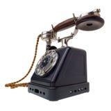 antyczne czarny telefon Obrazy Royalty Free