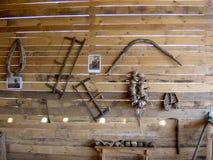 Antyczne drewniane gospodarstwo domowe rzeczy Fotografia Stock