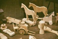 Antyczne drewniane zabawki zdjęcia stock