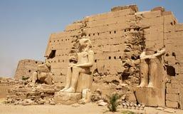 antyczne egipskie statuy Obrazy Royalty Free