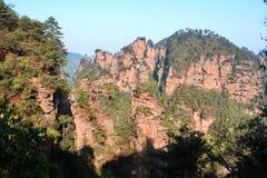 antyczne góry Zhangjiajie Fotografia Royalty Free