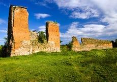 antyczne grodowe ruiny Zdjęcia Royalty Free