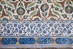 Antyczne Handmade Tureckie płytki, Topkapi pałac Zdjęcia Stock