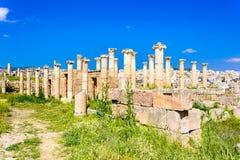 Antyczne i rzymskie ruiny Jerash Gerasa, Jordania obrazy stock