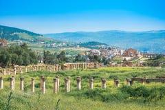 Antyczne i rzymskie ruiny Jerash Gerasa, Jordania obraz stock