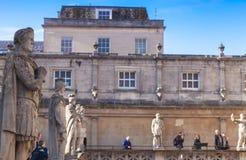 Antyczne kamienne statuy w Romańskich skąpaniach, skąpanie obrazy royalty free