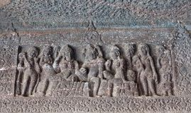 Antyczne kamienne ulgi w Ajanta zawalają się, India Fotografia Royalty Free