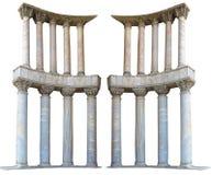Antyczne kolumnada marmuru kamienia kolumny odizolowywać na białym backgro obrazy stock