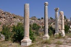 Antyczne kolumny Afrodisias, Aphrodisias Antyczny miasto,/, Turcja Obrazy Royalty Free