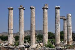 Antyczne kolumny Afrodisias, Aphrodisias Antyczny miasto,/, Turcja Fotografia Stock