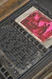 antyczne letterpress Zdjęcia Stock
