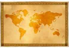 antyczne mapa świata Zdjęcia Stock