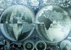 antyczne mapa świata Zdjęcie Royalty Free