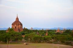 Antyczne pagody w Bagan, Myanmar Zdjęcie Royalty Free