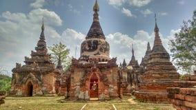Antyczne pagody w Birma Myanmar obrazy royalty free
