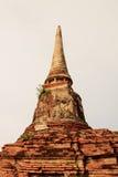 Antyczne resztki Wata Ratchaburana świątynia w Ayutthaya Hist Zdjęcia Royalty Free