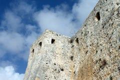 Antyczne Romańskie ściany Stari absolwent - 2500 lat Montenegro, Ulcinj (, zima) fotografia royalty free
