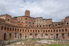 Antyczne Romańskie ruiny, Rzym, Włochy Obrazy Royalty Free