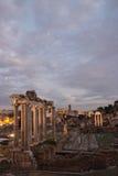 Antyczne Romańskie ruiny Fori Imperiali Zdjęcie Royalty Free