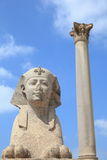Antyczne ruiny Aleksandria Egipt Obraz Royalty Free