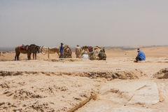 Antyczne ruiny Giza Obrazy Royalty Free