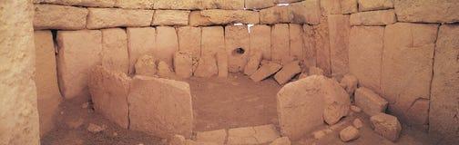 Antyczne ruiny Hagar Qim fotografia stock