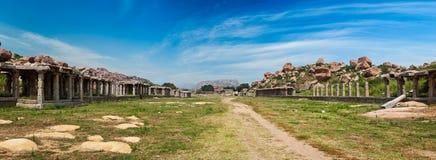 Antyczne ruiny Hampi, India fotografia royalty free