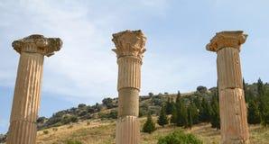 Antyczne ruiny i resztki w Ephesus Turcja Zdjęcia Royalty Free